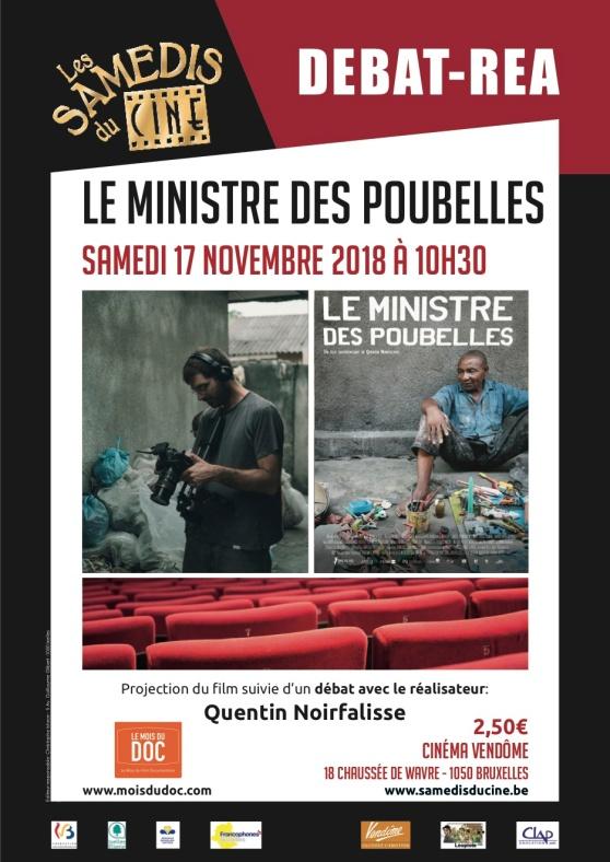Affiche Debat LEMINISTREDESPOUBELLES